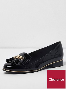 river-island-river-island-wide-fit-patent-tassel-loafer--black