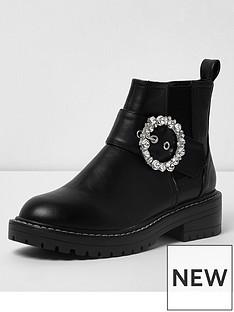 river-island-river-island-buckle-chunky-boot--black