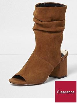 river-island-suede-slouch-shoe-boot-tan