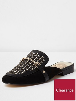 river-island-lace-backless-loafer-black