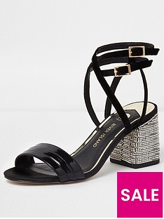 river-island-river-island-wide-fit-metallic-diamante-heel-sandals--gold