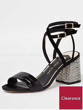 river-island-river-island-wide-fit-metallic-diamante-heel-sandals--gold