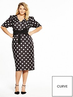 v-by-very-curve-spot-bow-bodycon-dress-monochrome