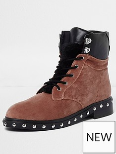 river-island-river-island-velvet-faux-fur-tongue-lace--up-boots--pink