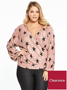 v-by-very-curve-star-plisse-wrap-top