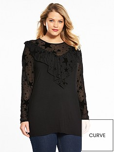 v-by-very-curve-star-mesh-ruffle-jersey-top