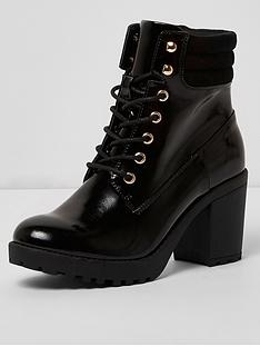 river-island-lace-up-chunky-boot--black