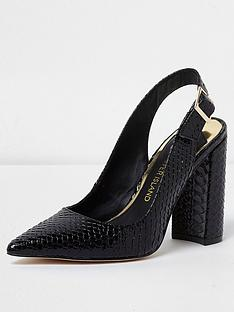 river-island-river-island-point-toe-sling-back-block-heel
