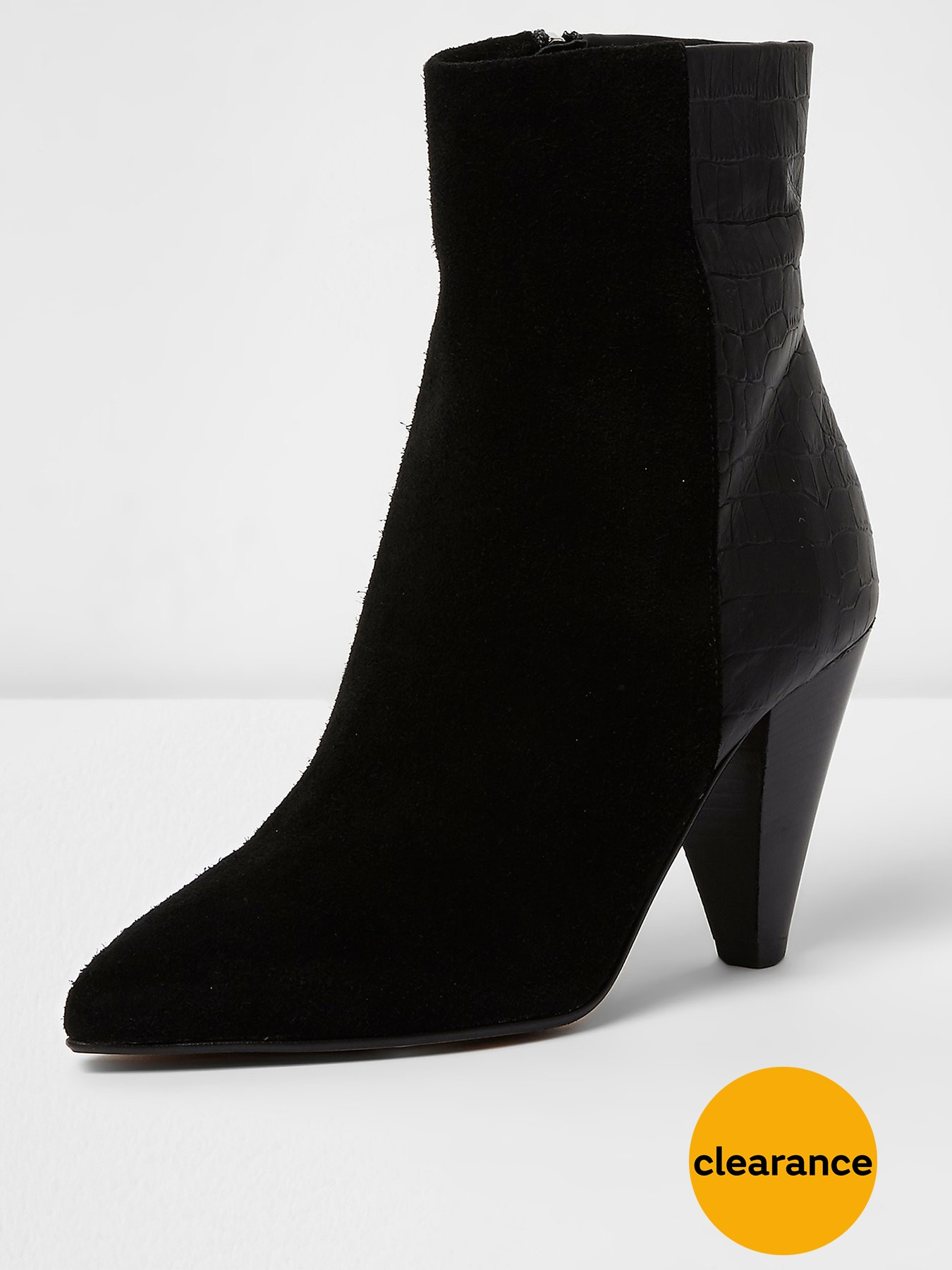 River Island Cone Heel Boot 1600220652 Women's Shoes River Island Boots