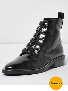 river-island-river-island-lace-up-diamante-lace-up-patent-boot--black