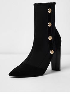 river-island-river-island-military-heeled-ankle-boot--black