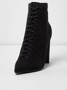river-island-river-island-lace-up-pointed-ankle-boots--black