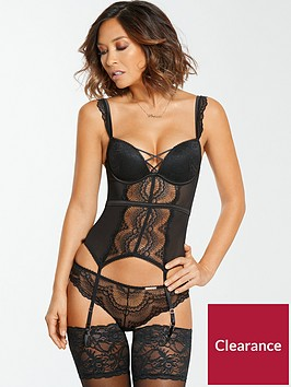 myleene-klass-lace-up-basque-black