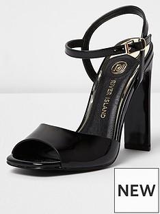 river-island-river-island-patent-block-heel-sandal--black