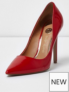 river-island-river-island-patent-pointed-high-heels--red