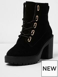 river-island-river-island-chunky-heeled-lace-up-boot--black