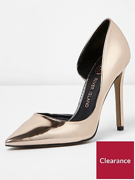 river-island-river-island-wide-fit-pointed-high-heel--gold