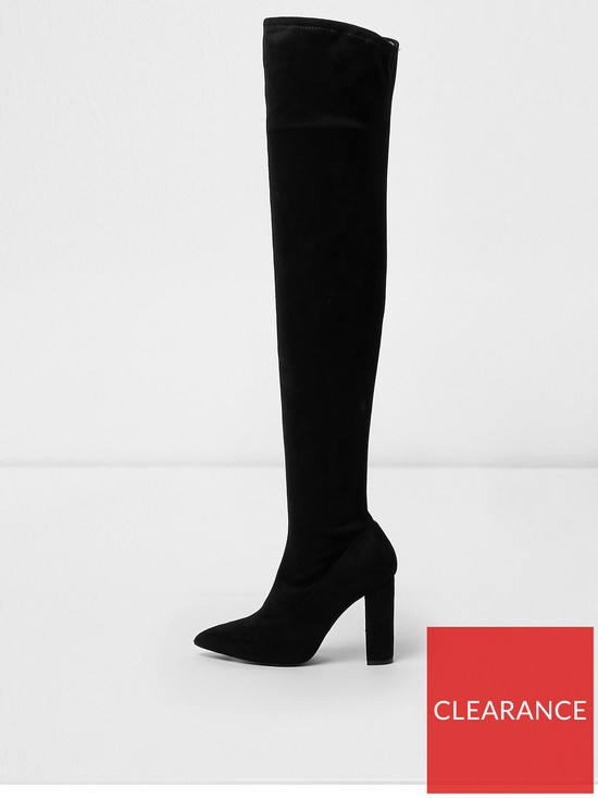 River Over The Knee Wide Fit Island BlackVery Boot D2W9YHIE