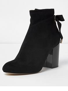 river-island-river-island-tie-back-block-heel-boot--black