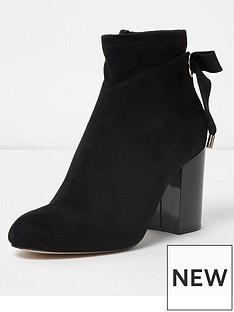 river-island-river-island-tie-back-block-heel-boot--black