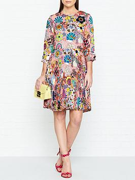 ps-paul-smith-enso-floral-print-pleated-dress-pink