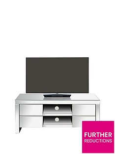 Monte Carlo Ready Assembled Mirrored TV Unit - fits up to 50 inch TV