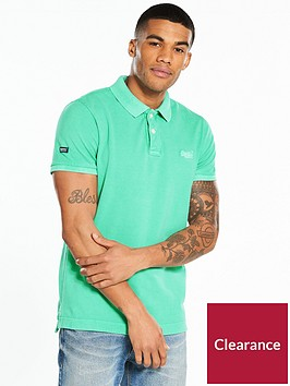 superdry-vintage-destroy-short-sleeved-pique-polo-shirt-ndash-mint
