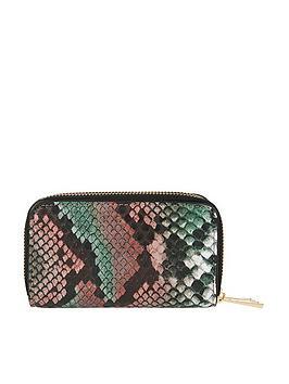 accessorize-accessorize-gigi-snake-double-zip-mini-wallet