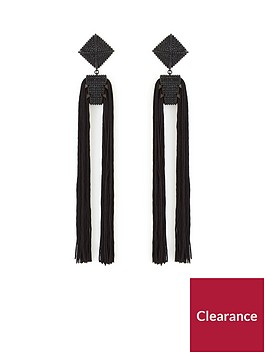 v-by-very-oversized-double-tassel-square-top-earrings-black