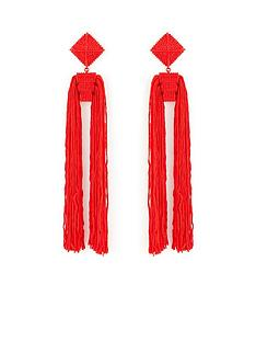 v-by-very-oversized-double-tassel-square-top-earrings-red