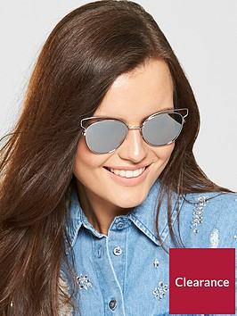 v-by-very-butterflynbspframe-mirror-lens-sunglasses-silver