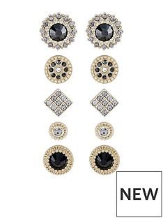accessorize-5x-set-jet-stud-earrings