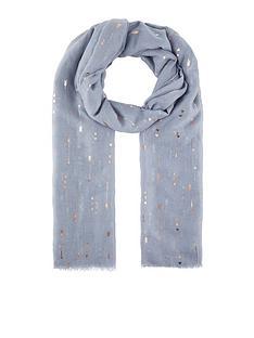 accessorize-cupids-arrow-foil-scarf-grey