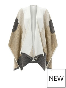 accessorize-pretty-patchwork-knitted-poncho