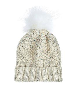 Photo of Accessorize sgh foiled faux fur pom beanie hat