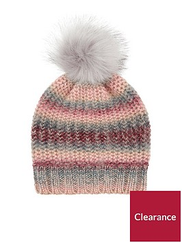accessorize-pretty-spacedye-faux-fur-pom-beanie-hat