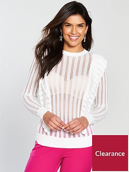 v-by-very-pointelle-frill-detail-jumper