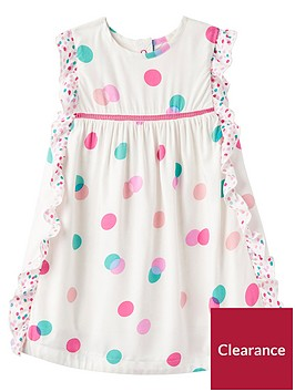 joules-baby-girlsnbspgertie-woven-frill-dress-cream-multinbspspot
