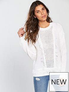 v-by-very-fringe-detail-jumper-white