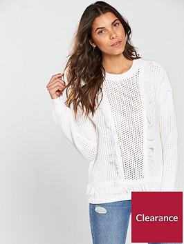 v-by-very-fringe-detail-jumper-white