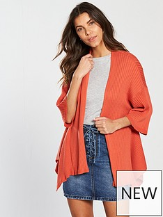 v-by-very-godet-hem-rib-cardigan