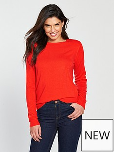v-by-very-supersoft-crew-neck-jumper-orangered