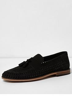 river-island-river-island-black-suede-woven-tassel-loafers