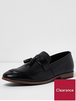 river-island-river-island-tufnell-texture-loafer-black