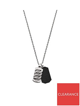 emporio-armani-stainless-steel-and-leather-mensnbspdog-tag-pendant