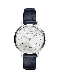 emporio-armani-stainless-steel-sapphire-blue-leather-strap-ladies-watch