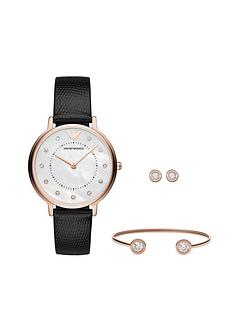 emporio-armani-emporio-armani-rose-gold-leather-strap-ladies-watch-bangle-and-earring-gift-set
