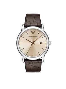 emporio-armani-20thnbspanniversary-brown-leather-strap-mensnbspwatch