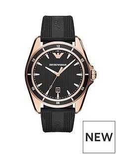 emporio-armani-emporio-armani-rose-gold-stainless-steel-matte-black-rubber-mens-sport-watch