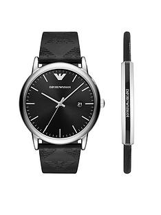 emporio-armani-black-leather-strap-watch-amp-black-leather-bracelet-gift-set